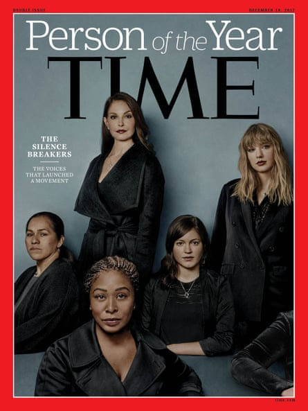 Time magazine's 2017 Person of the Year cover, The Silence Breakers, which featured women who have spoken out against harassment, and included Sandra Pezqueda.