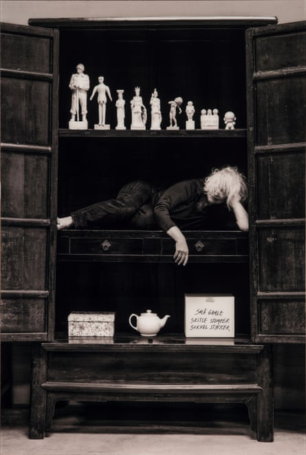 Kirsten Justesen's Portrait in Cabinet with Collection, 2013.