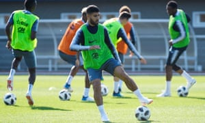 Nabil Fekir gets down to work during France's World Cup training camp at Clairefontaine.
