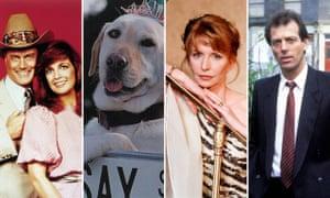 JR and Sue Ellen (Dallas); Bouncer (Neighbours); Angel (Crossroads); Dirty Den (EastEnders).