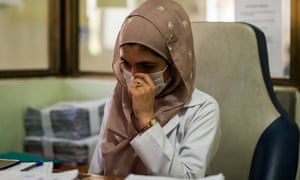 Dr Hasina Ersad cries while explaining the emotional toll of her work