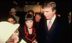 Donald Trump And Blanche SpragueReal estate tycoon Donald Trump (L) w. Blanche Sprague (C) overseer of new Trump Palace, lastest NYC condo development, speaking w. unident. woman. (Photo by Allan Tannenbaum/The LIFE Images Collection/Getty Images)