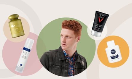 Marc Goldfinger and the shaving balms he tested.