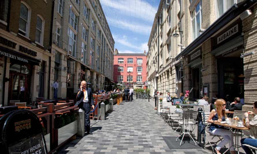 Heddon Street in Mayfair, London