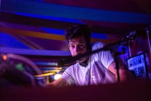 Mark Ronson at Stonebridge Bar. The Park. Glastonbury Festival. Photograph by David Levene 29/6/19