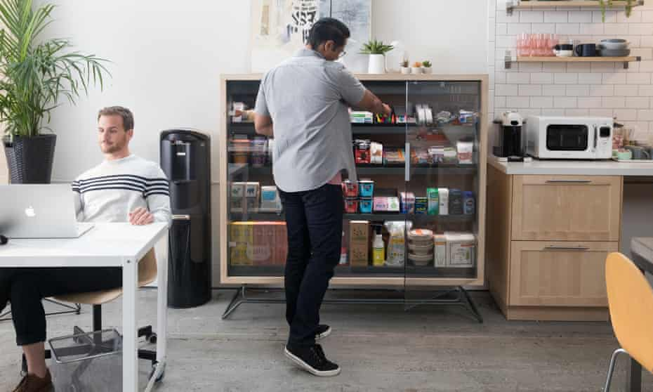 The founders of Bodega hope there will eventually be thousands of boxes 'with one always 100 ft away from you'.