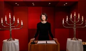 Mourning speaker Louise Brown in Hamburg.