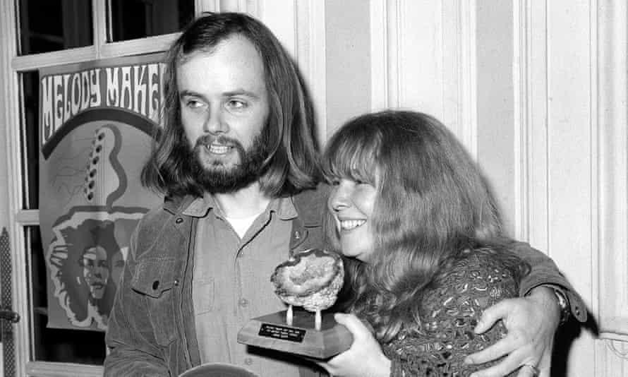 Peel slowly and see … John Peel celebrates winning the tiop DJ award at the 1970 Melody Maker pop poll with Sandy Denny.