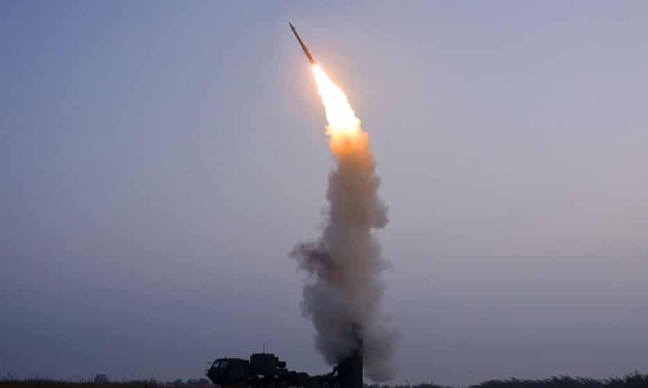 North Korea test-fires what it called a new anti-aircraft missile