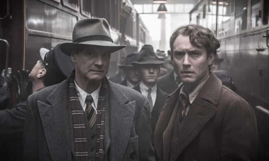 Musty sepia and baffling slow motion ... Firth and Law.