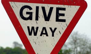 A give way sign