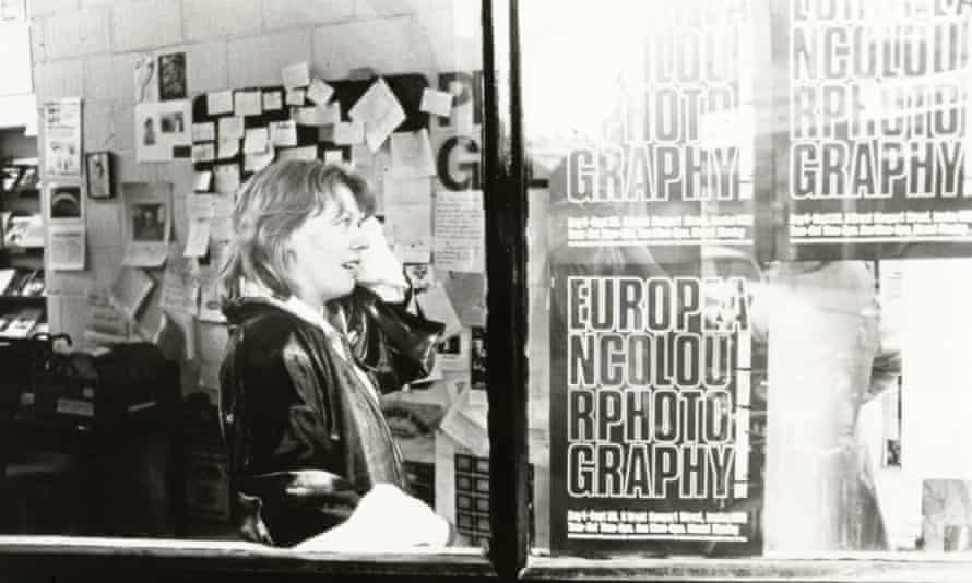 Sue Davies in 1978, during the European Colour Photography exhibition.