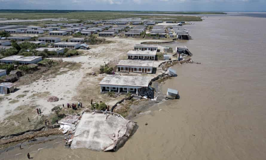 River erosion in Bangladesh