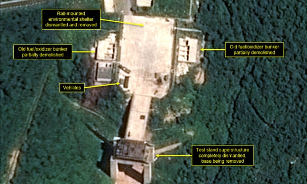 Satellite image shows the apparent dismantling at the Sohae satellite launching station
