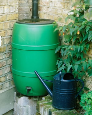 Water butts help keep the garden green and save on water bills.