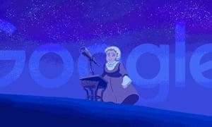 The Google doodle for Caroline Herschel's 266th birthday.