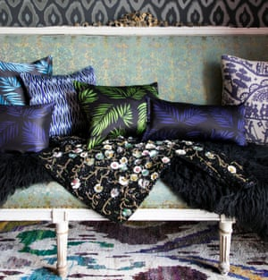 Meijers' tropical-inspired cushions.