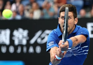 Djokovic wins the first set 6-3.