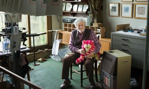 'We will wash it, we will brush it…': Peter Firmin with his most famous creation, Bagpuss, 'the saggy old cloth cat'.