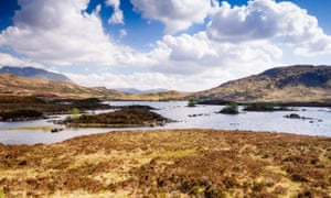 The lakes of Lochan na h-Achlaise in the West Highlands of Scotland … peat bogs offer clues to the past in Val McDermid's Broken Ground.