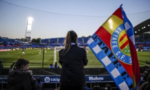 Getafe fans get ready to face Real Madrid at the Coliseum, a stadium that could well be hosting Champions League football next season.