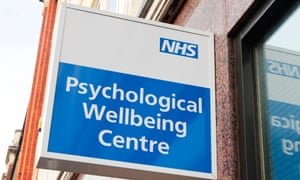 A close-up of the sign for the Psychological Wellbeing Centre in Westminster