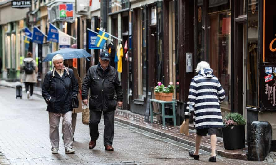 People walking in the Old Town of Stockholm