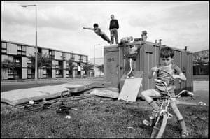 GB. England. Manchester. Moss Side Estate. 1986.