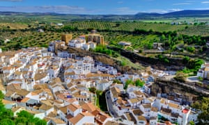 The dramatic Andalucían hill town of Setenil de las Bodegas, which has houses built into its overhanging rocks