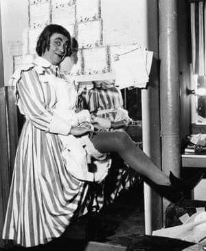 Derek Roy as the nursemaid in Robin Hood, Coventry, circa 1959.