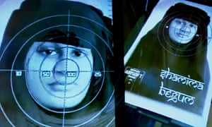 Shamima Begum's face used as a target.