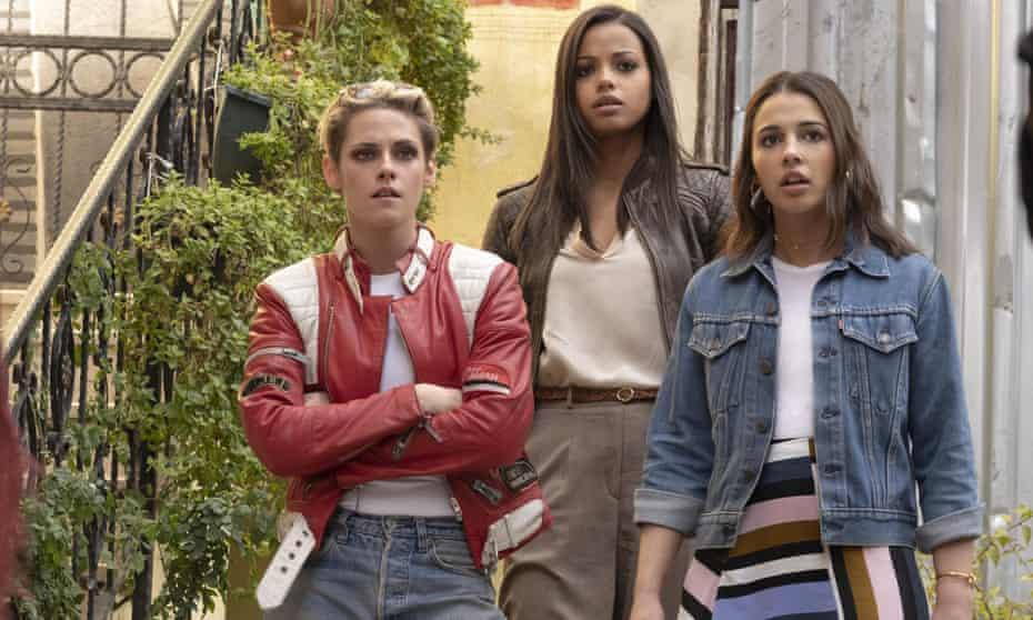 Kristen Stewart, Ella Balinska and Naomi Scott.