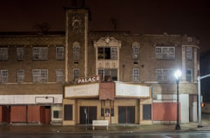 Former Palace Theater, Broadway, Broadway at 8th Ave., Gary, 2016