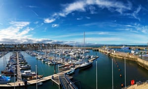 The massed masts of Bangor Marina.