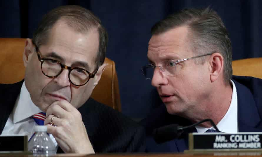 Jerry Nadler and Doug Collins confer during an impeachment hearing last week.