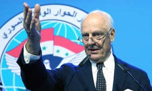 Staffan de Mistura at the conderence on Syria in Sochi, Russia.