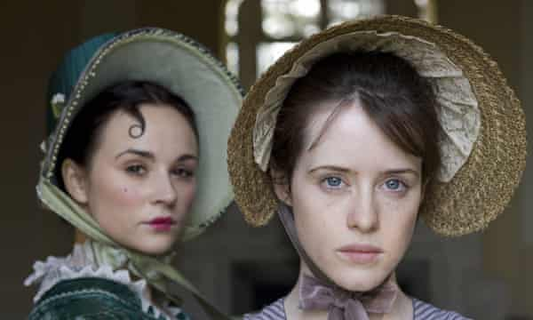 Emma Pierson as Fanny and Claire Foy as Amy in the BBC adaptation of Little Dorrit<br>