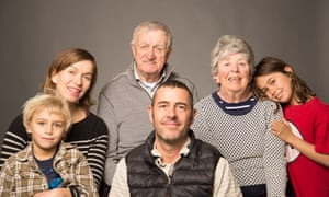 Rajesh Westerberg and his wife Nicola Percy, their son Ari and daughter Pearl, and Nicola's parents.
