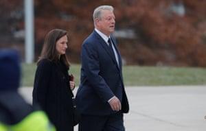 Former vice-president Al Gore arrives.