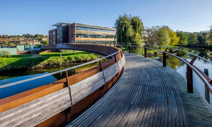 Jarrold bridge over the river Wensum in Norwich, UK.