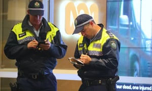 Police outside the ABC