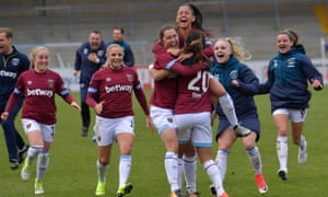 West Ham celebrate reaching the FA Cup final after a semi-final penalty shootout victory against Reading.