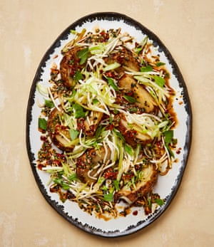 Yotam Ottolenghi's roasted and pickled celeriac with sweet chilli dressing