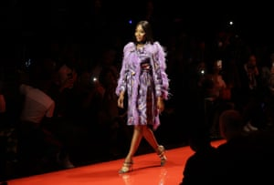 Traditional Patterns  Naomi Campbell opens the show for South African designer Kluk CGDT