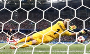 Kasper Schmeichel's three penalty saves against Croatia weren't enough to help Denmark through to the quarter-finals.