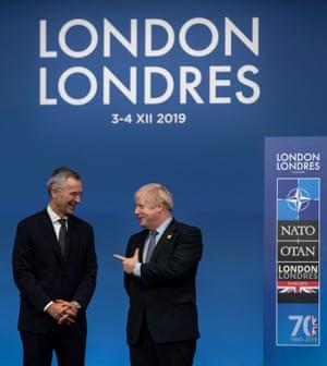 Nato's secretary general, Jens Stoltenberg, with the British prime minister
