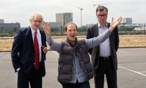 Brexit: The Uncivil War Boris Johnson (Richard Goulding), Dominic Cummings (Benedict Cumberbatch) and Michael Gove (Oliver Maltman)