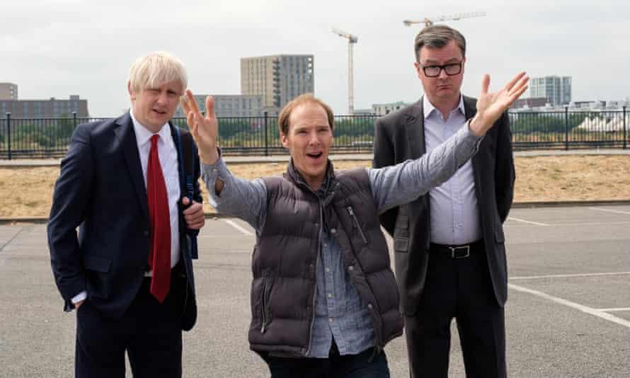 Brexit: The Uncivil War Boris Johnson (Richard Goulding), Dominic Cummings (Benedict Cumberbatch) and Michael Gove (Oliver Maltman)