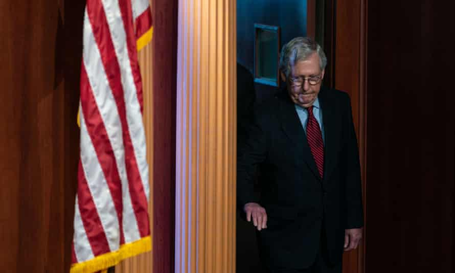Mitch McConnell, Senate minority leader, has said that Republicans will block a key spending package.