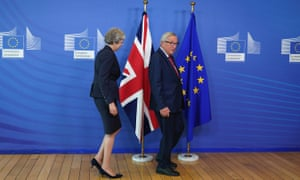 European Commission president Jean-Claude Juncker and British prime minister Theresa May.